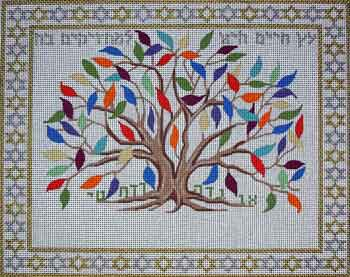 Susan Roberts Needlepoint Designs Tree Of Life For Those Who Grasp It Tallis Bag F 694 13 75 W X 11 0 H Inches Count Canvas Price 147 00